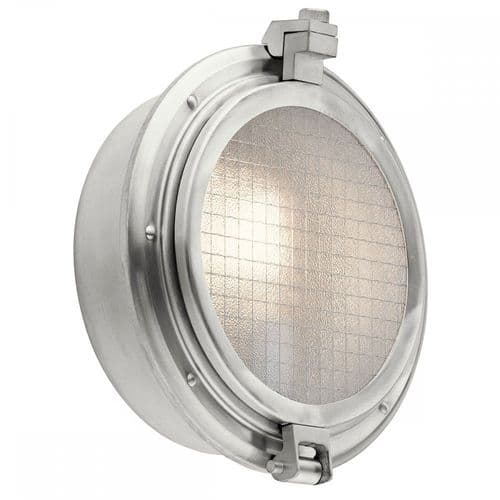 Kichler KL/CLEARPOINT Clearpoint 1 Light Outdoor Wall Light Brushed Aluminum